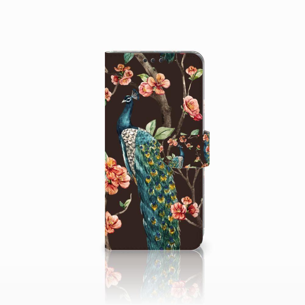 Sony Xperia Z5 Premium Boekhoesje Design Pauw met Bloemen