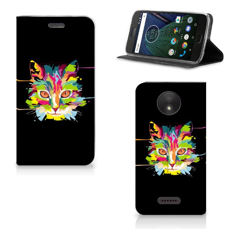 Motorola Moto C Plus Magnet Case Cat Color