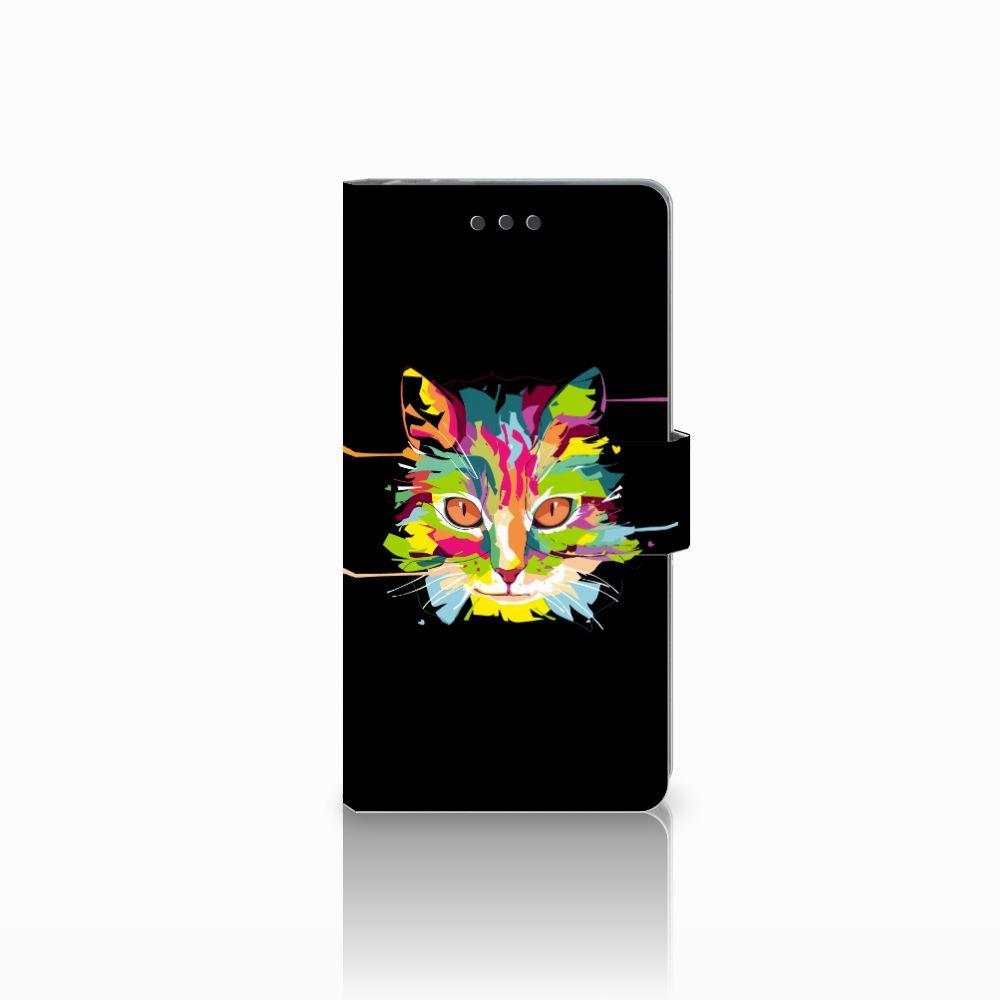 Sony Xperia E5 Uniek Boekhoesje Cat Color