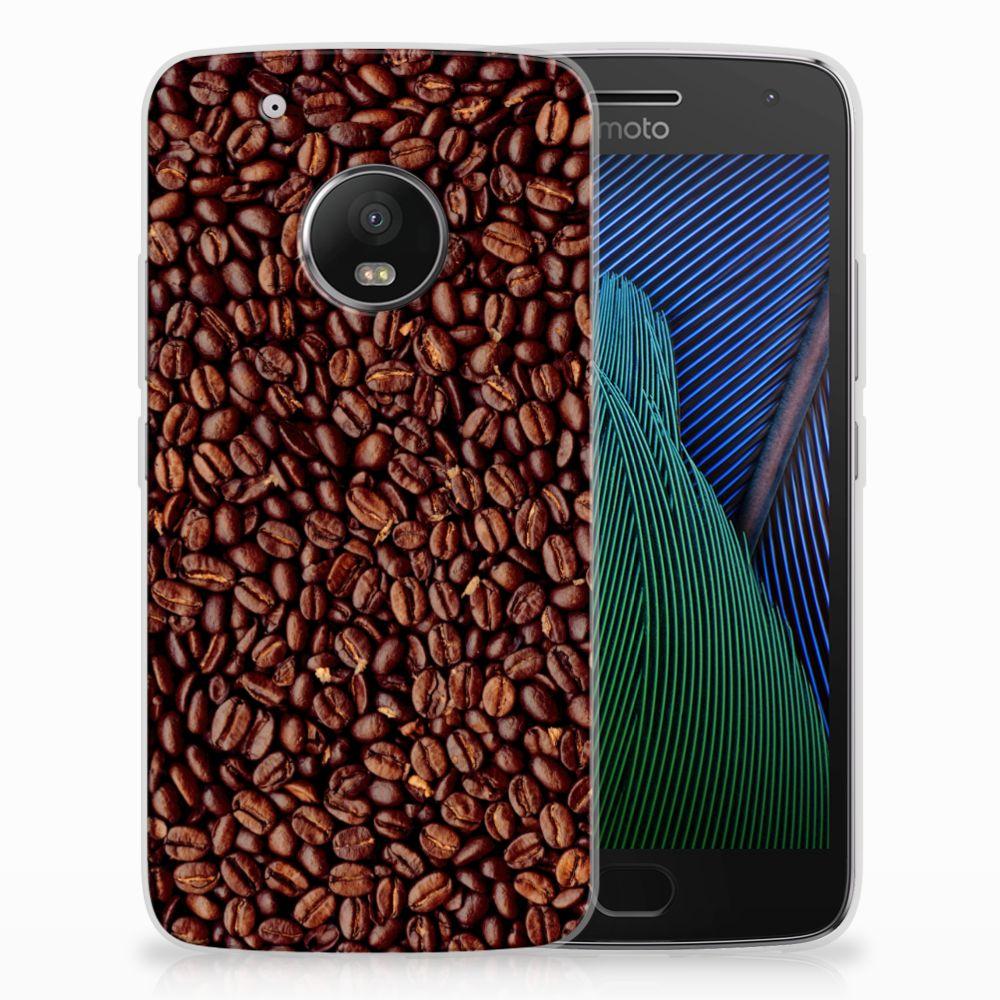 Motorola Moto G5 Plus Siliconen Case Koffiebonen