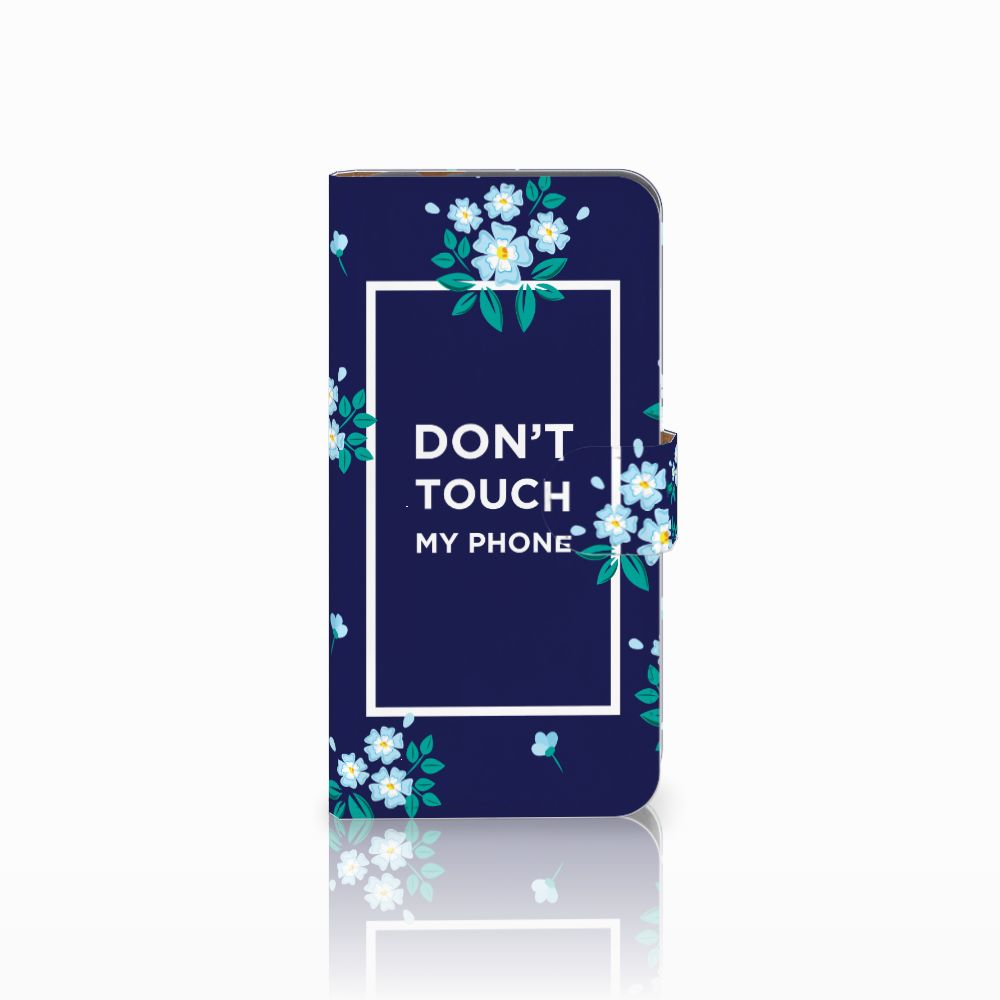 Huawei Nova Plus Boekhoesje Flowers Blue DTMP