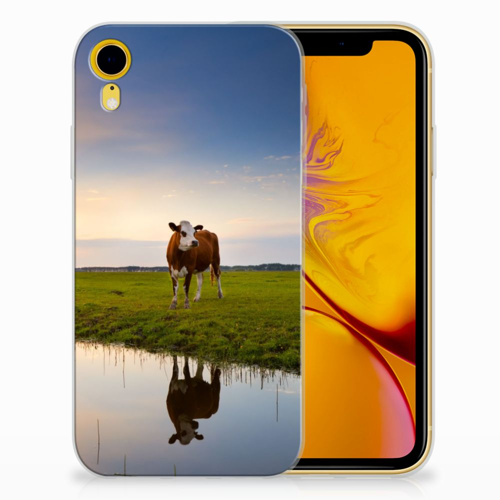 Apple iPhone Xr TPU Hoesje Design Koe