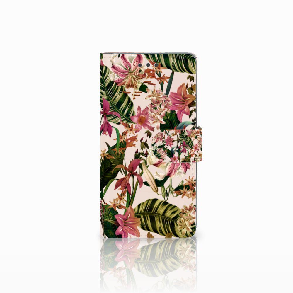 Sony Xperia E5 Uniek Boekhoesje Flowers