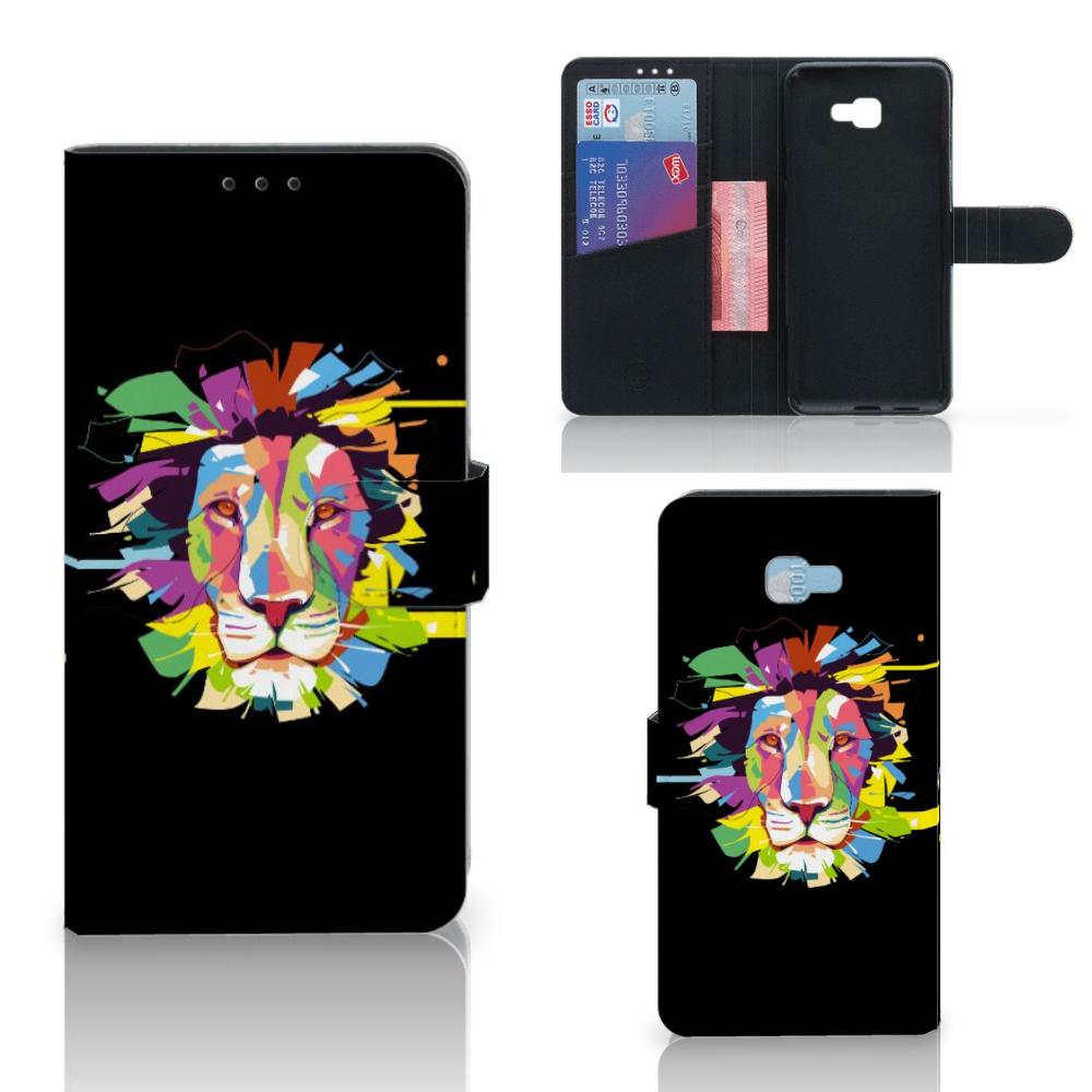 Samsung Galaxy J4 Plus (2018) Leuk Hoesje Lion Color