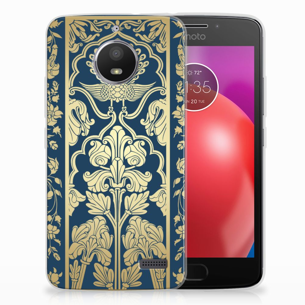 Motorola Moto E4 TPU Case Golden Flowers