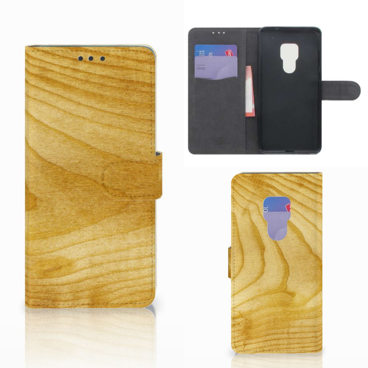 Huawei Mate 20 Book Style Case Licht Hout
