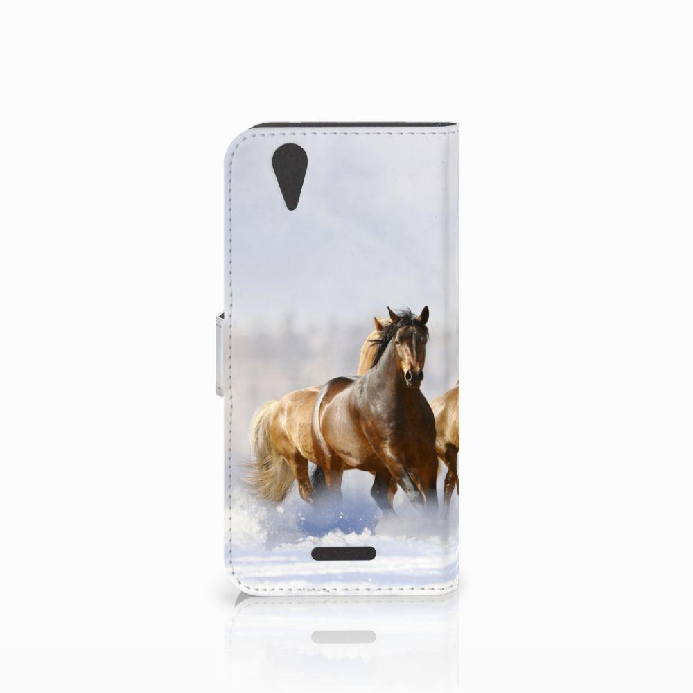 Acer Liquid Z630   Z630s Telefoonhoesje met Pasjes Paarden