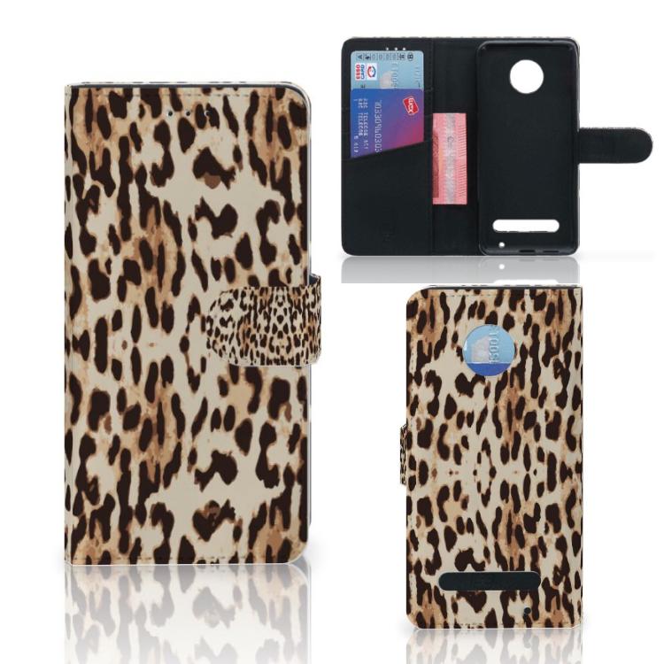 Motorola Moto Z2 Play Telefoonhoesje met Pasjes Leopard