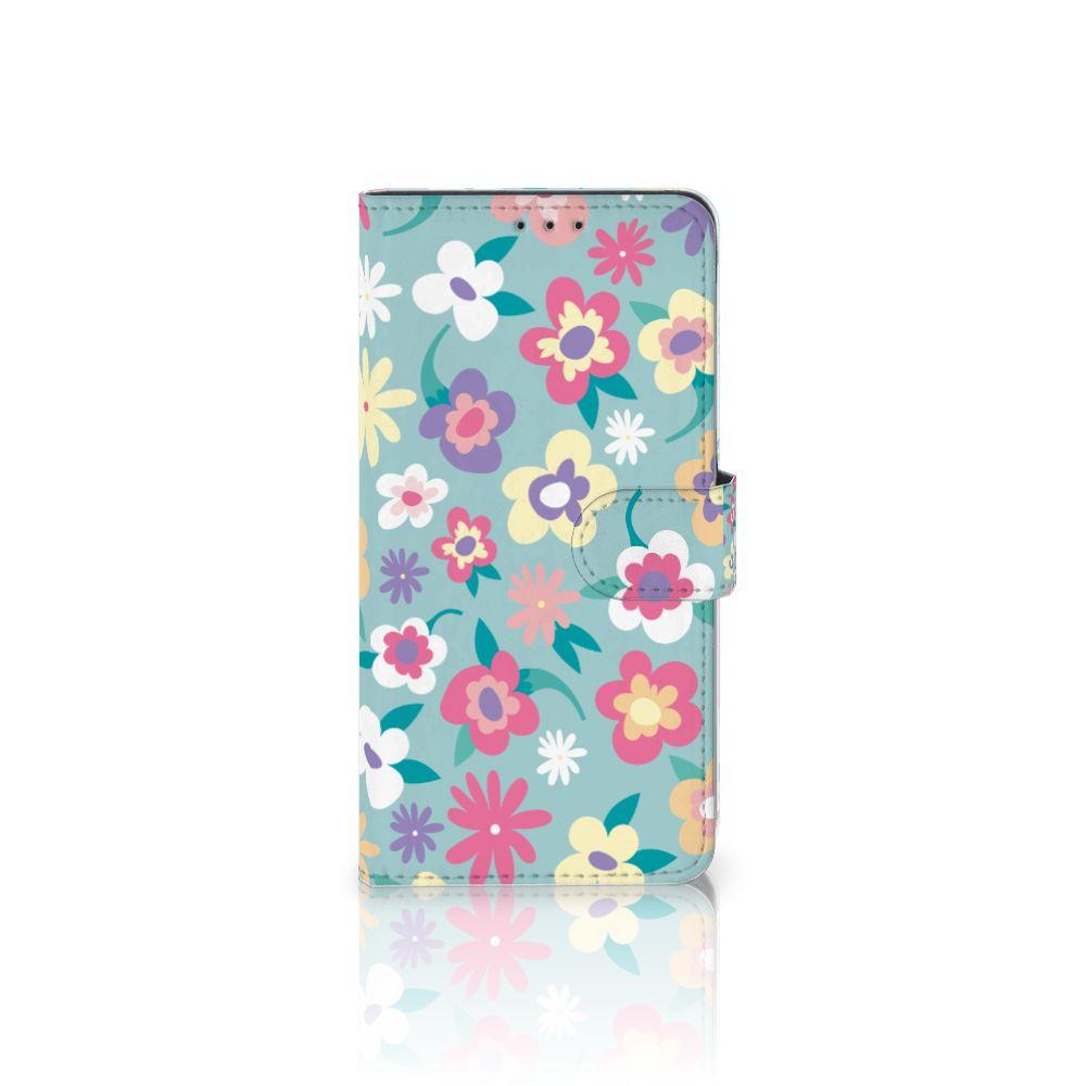 Samsung Galaxy A8 Plus (2018) Boekhoesje Design Flower Power