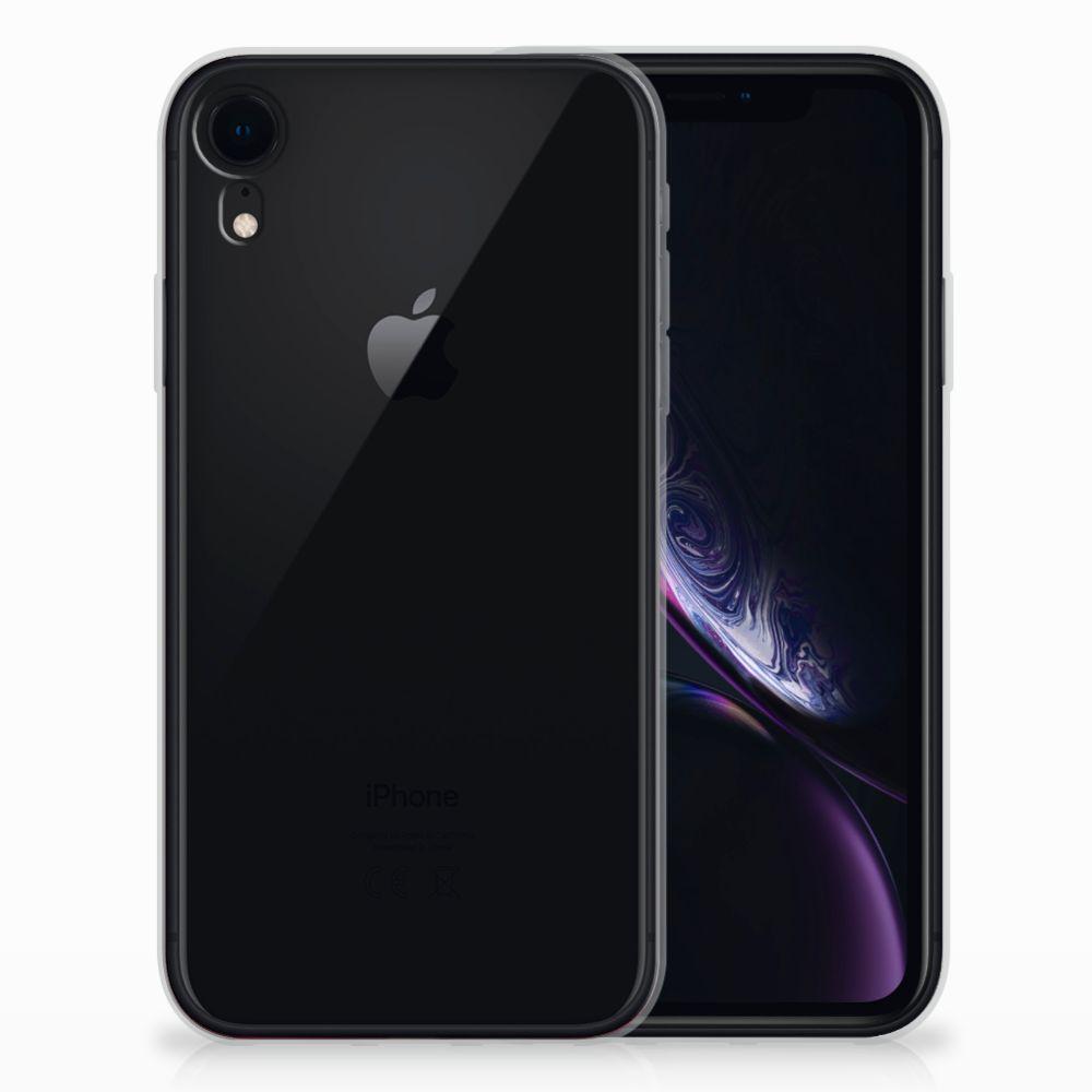 Apple iPhone Xr TPU Hoesje Zwart Roze Vormen