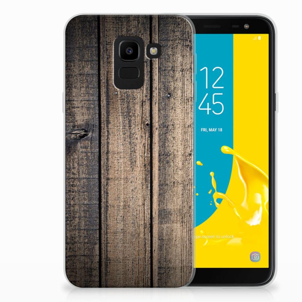 Samsung Galaxy J6 2018 TPU Hoesje Design Steigerhout