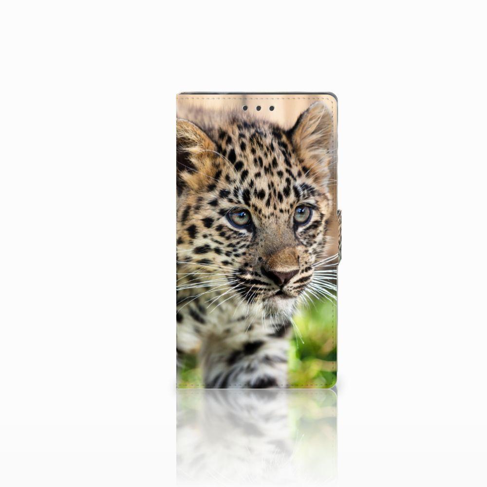 Samsung Galaxy Note 4 Uniek Boekhoesje Baby Luipaard