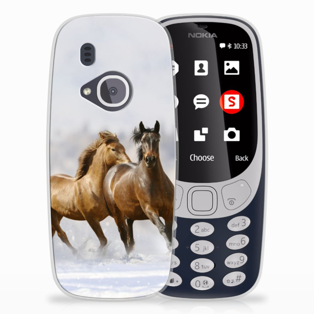 Nokia 3310 (2017) Uniek TPU Hoesje Paarden
