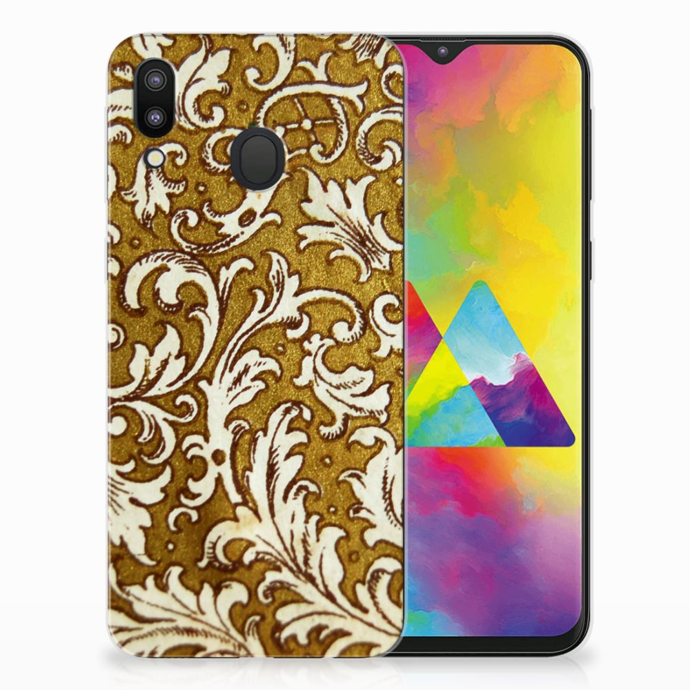 Samsung Galaxy M20 TPU Hoesje Design Barok Goud