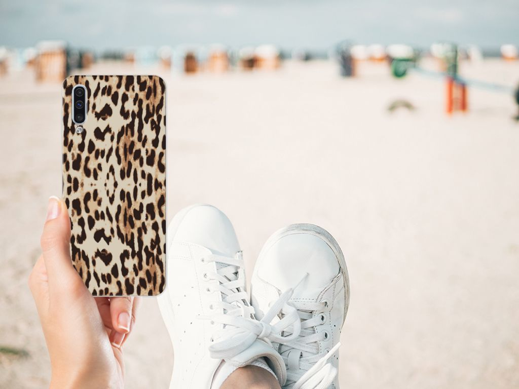 Samsung Galaxy A50 TPU Hoesje Leopard