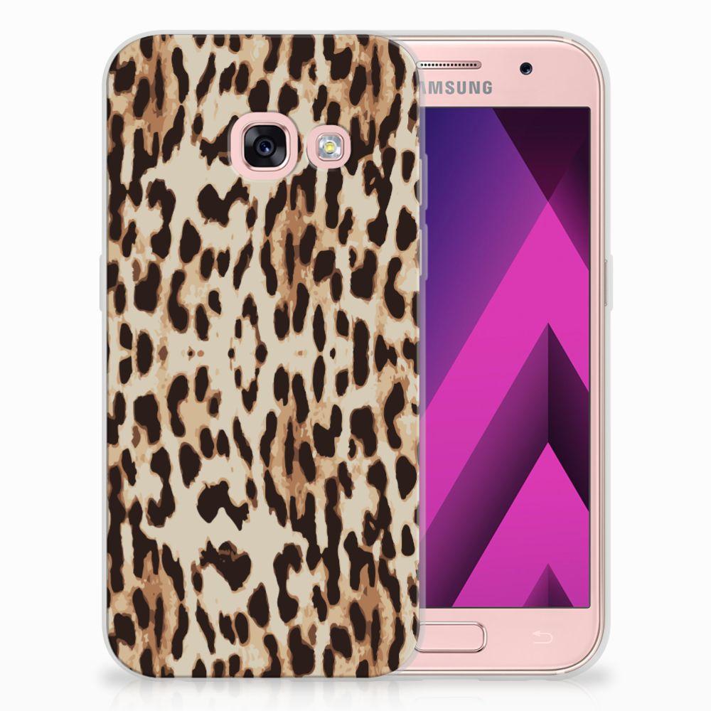 Samsung Galaxy A3 2017 Uniek TPU Hoesje Leopard