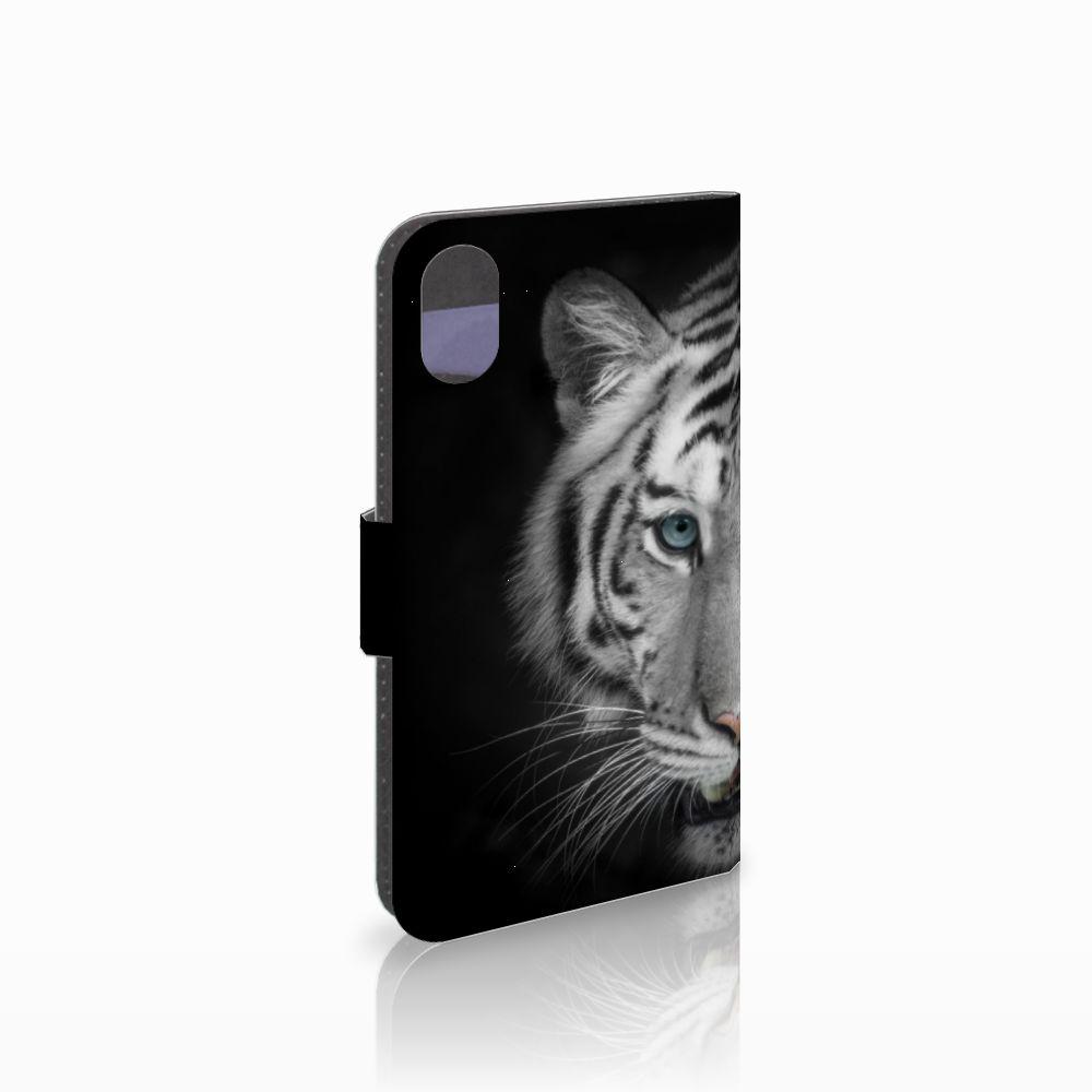 Apple iPhone X   Xs Uniek Boekhoesje Tijger