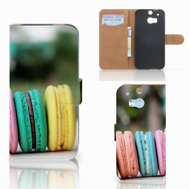 HTC One M8 Book Cover Macarons