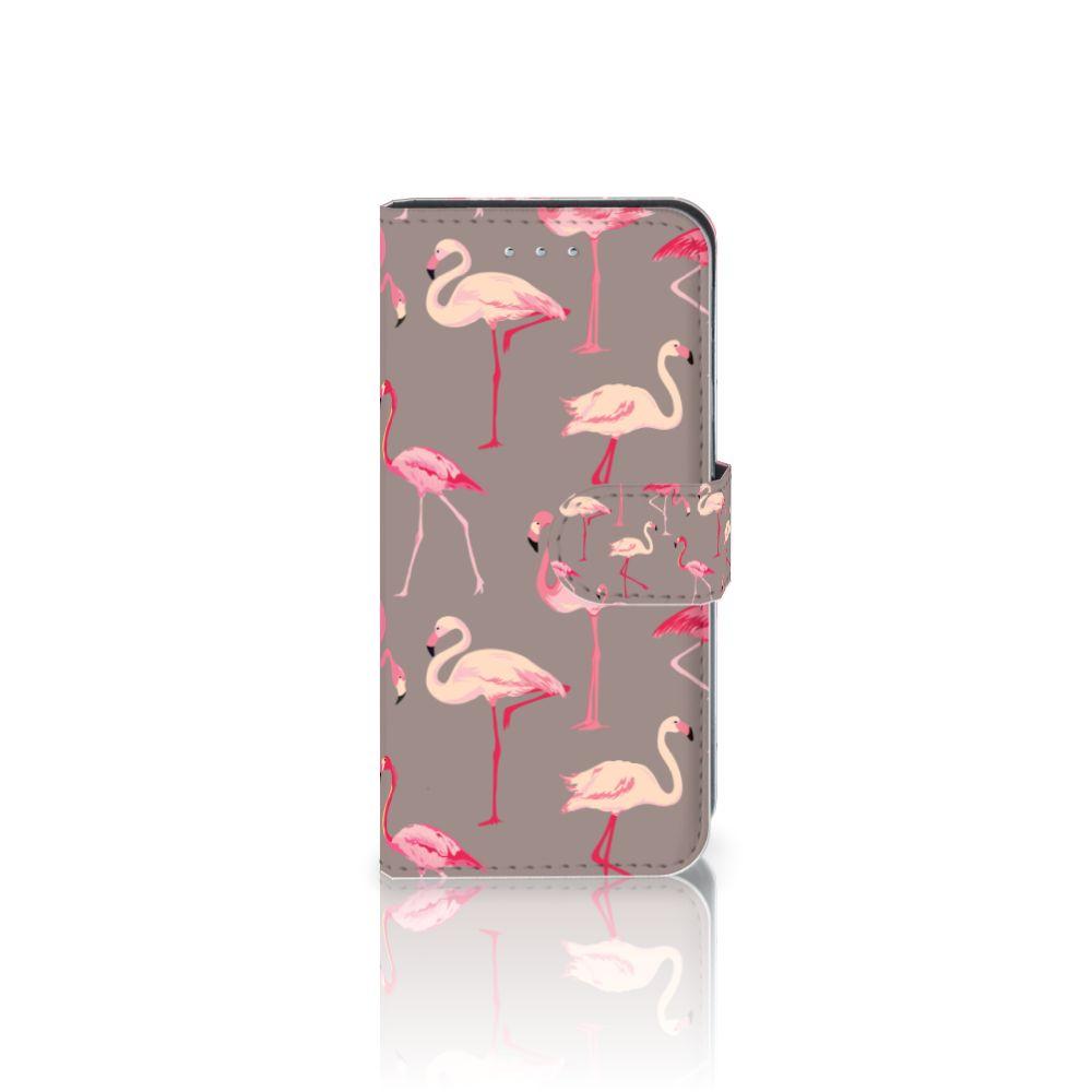 Samsung Galaxy S6 Edge Uniek Boekhoesje Flamingo