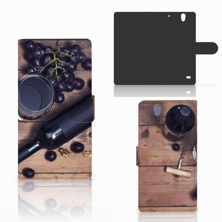 Sony Xperia C4 Book Cover Wijn