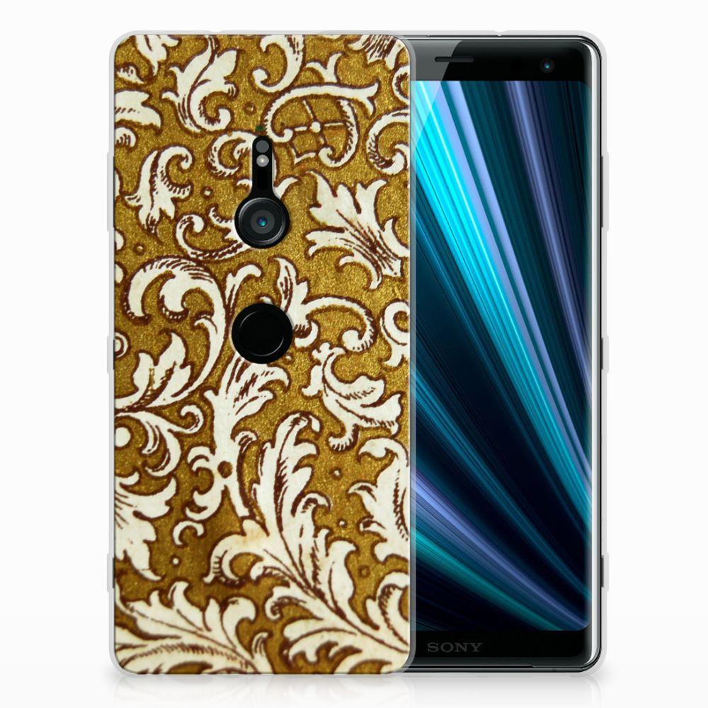 Sony Xperia XZ3 TPU Hoesje Design Barok Goud