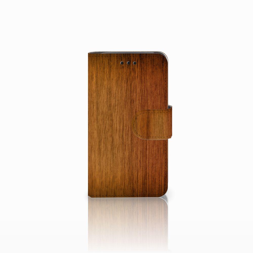 Samsung Galaxy Core i8260 Uniek Boekhoesje Donker Hout