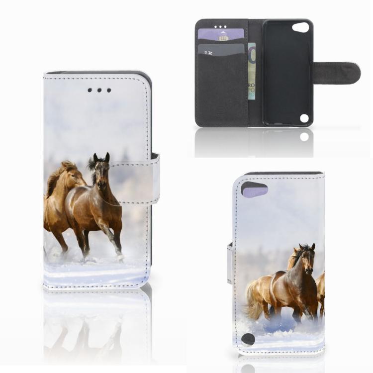 Apple iPod Touch 5 | 6 | iPod (2019) Telefoonhoesje met Pasjes Paarden