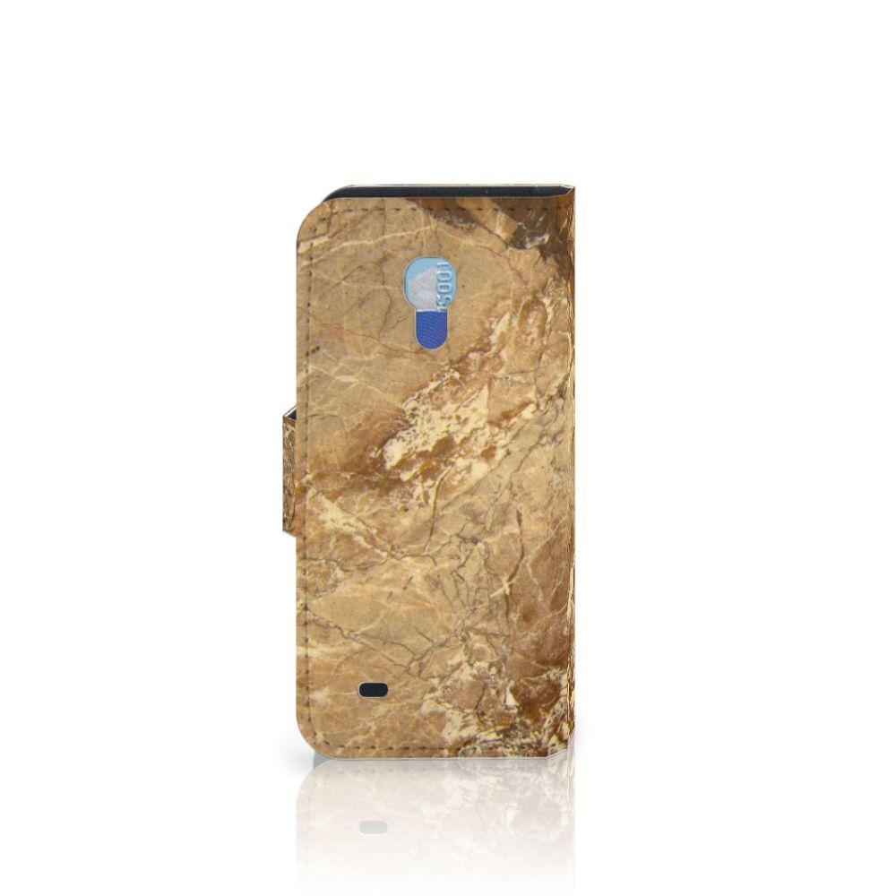 Samsung Galaxy S4 Mini i9190 Bookcase Marmer Creme