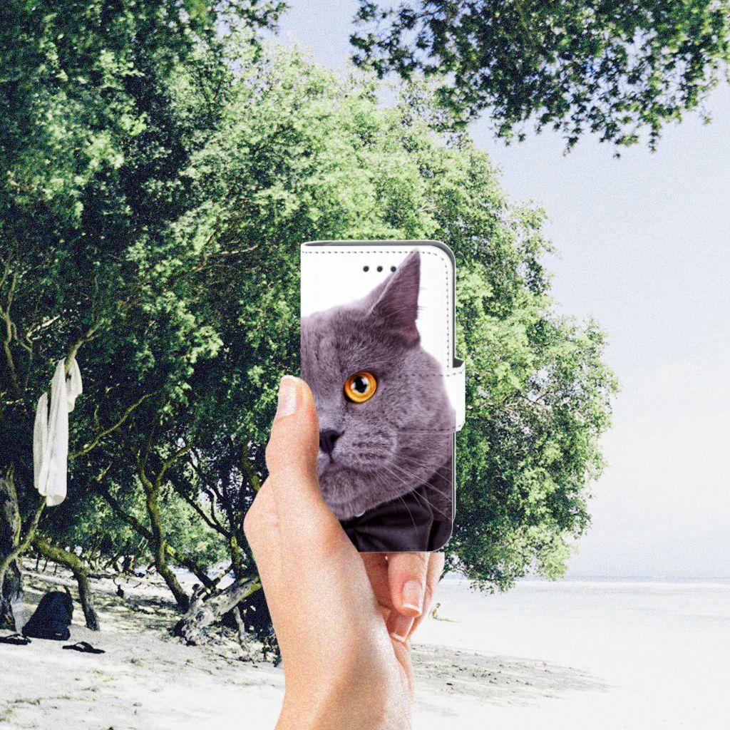 Apple iPod Touch 5   6   iPod (2019) Telefoonhoesje met Pasjes Kat
