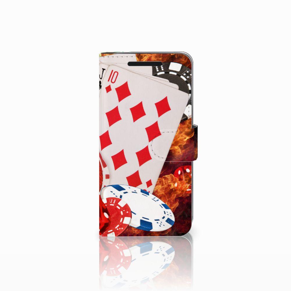HTC One M9 Wallet Case met Pasjes Casino