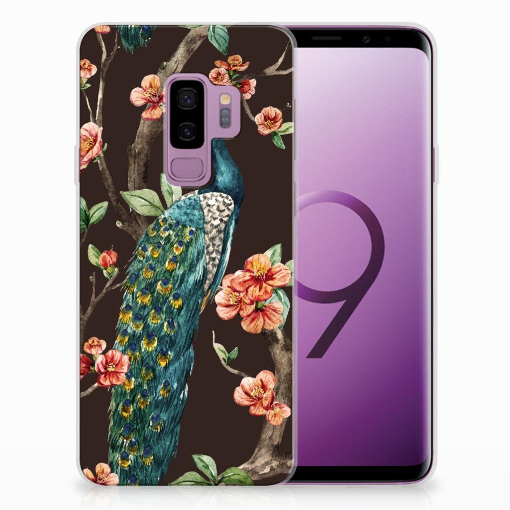 Samsung Galaxy S9 Plus TPU Hoesje Design Pauw met Bloemen