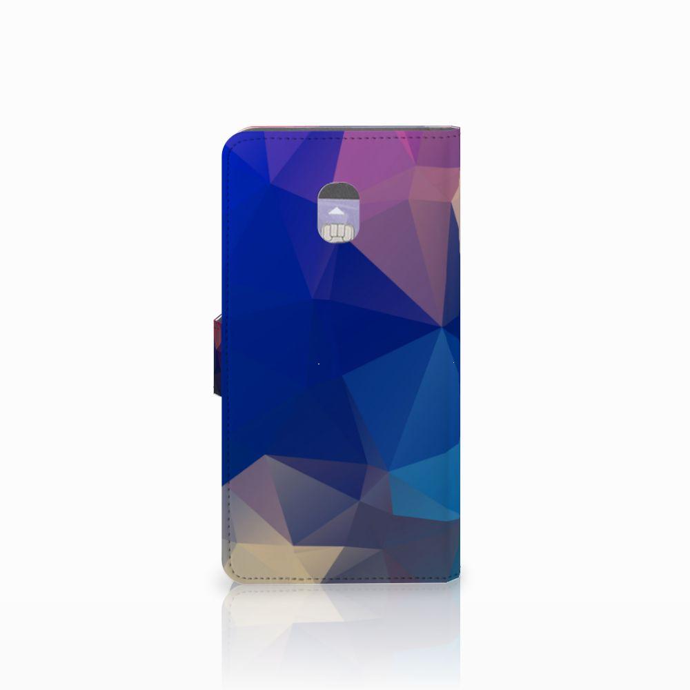 Samsung Galaxy J7 (2018) Bookcase Polygon Dark