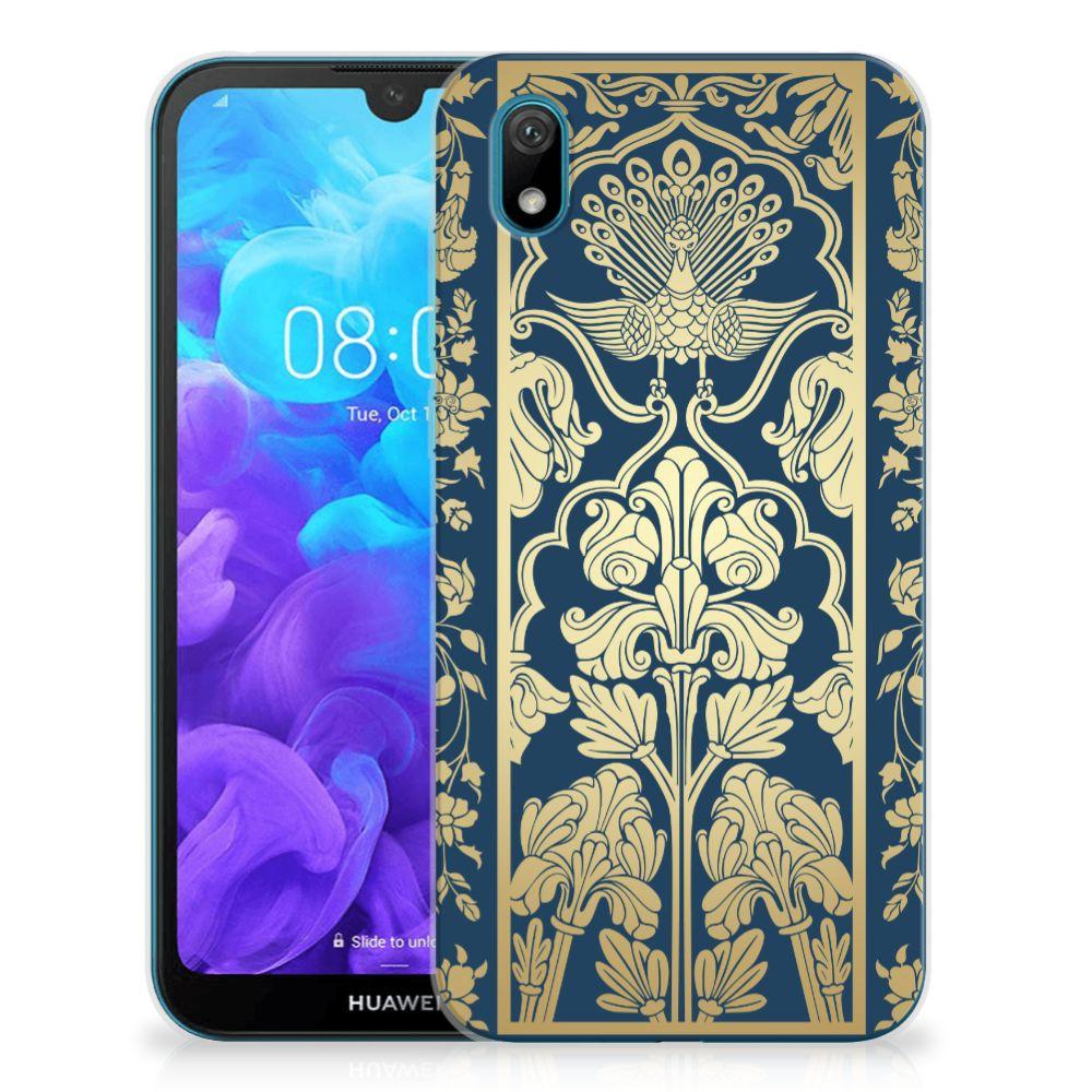 Huawei Y5 (2019) TPU Case Golden Flowers