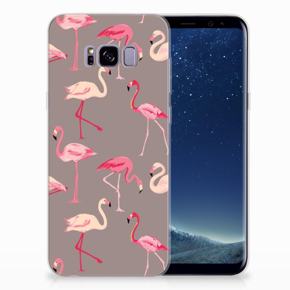 Samsung Galaxy S8 Plus Uniek TPU Hoesje Flamingo