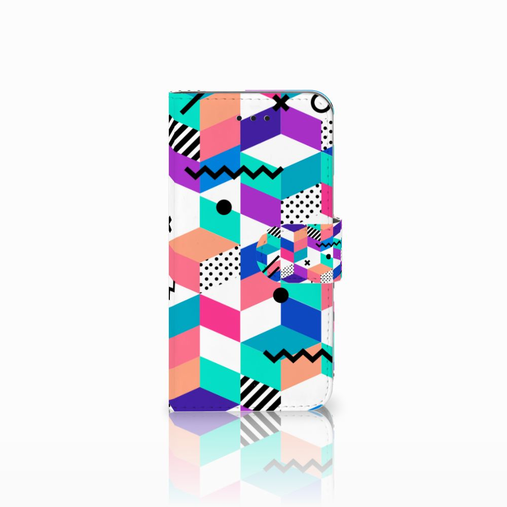 Apple iPhone X | Xs Boekhoesje Design Blocks Colorful