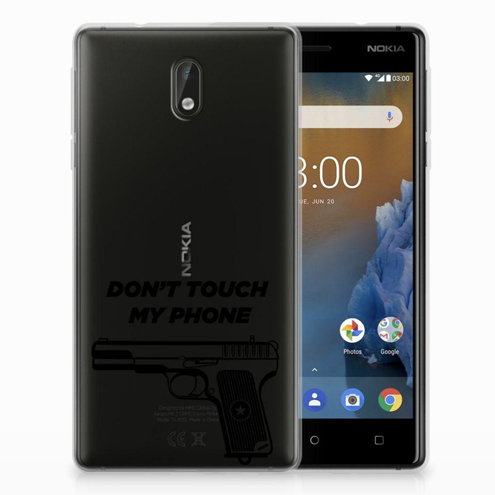 Nokia 3 Uniek TPU Hoesje Pistol DTMP