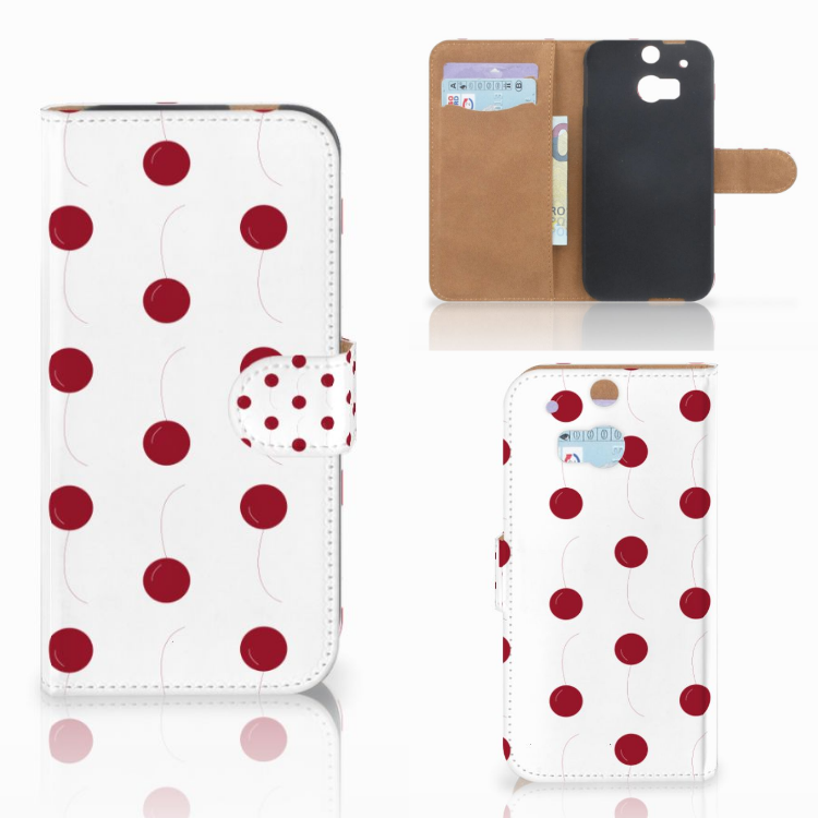 HTC One M8 Book Cover Cherries