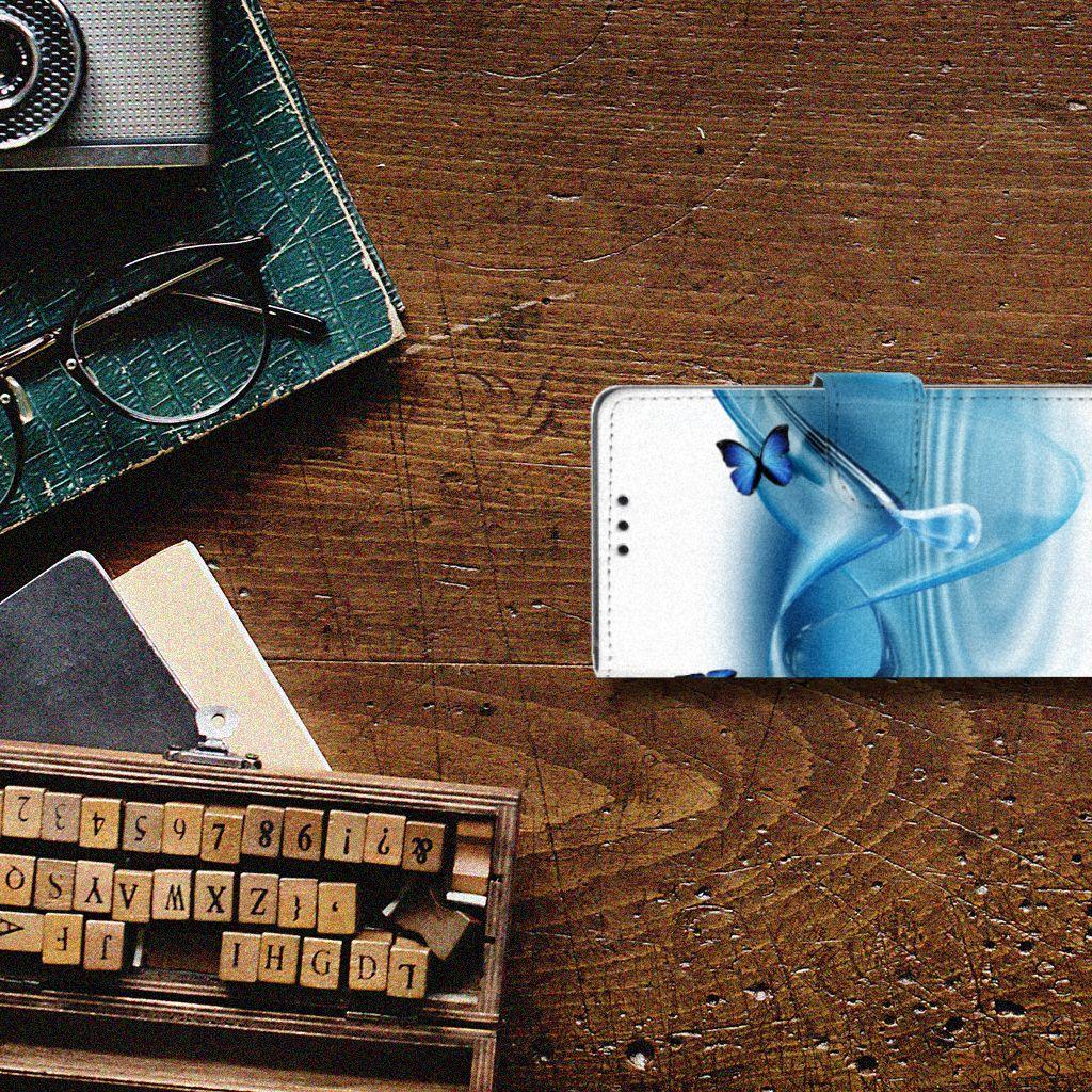 Sony Xperia Z5 | Z5 Dual Telefoonhoesje met Pasjes Vlinders