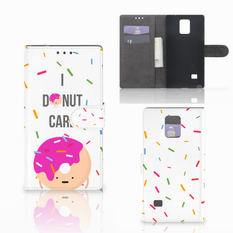 Samsung Galaxy Note 4 Book Cover Donut Roze