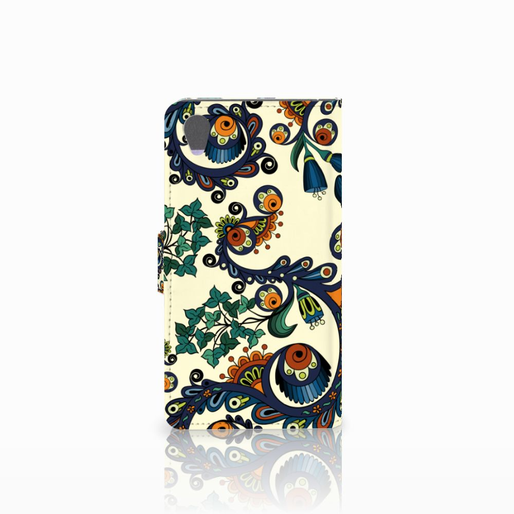 Wallet Case Sony Xperia Z1 Barok Flower