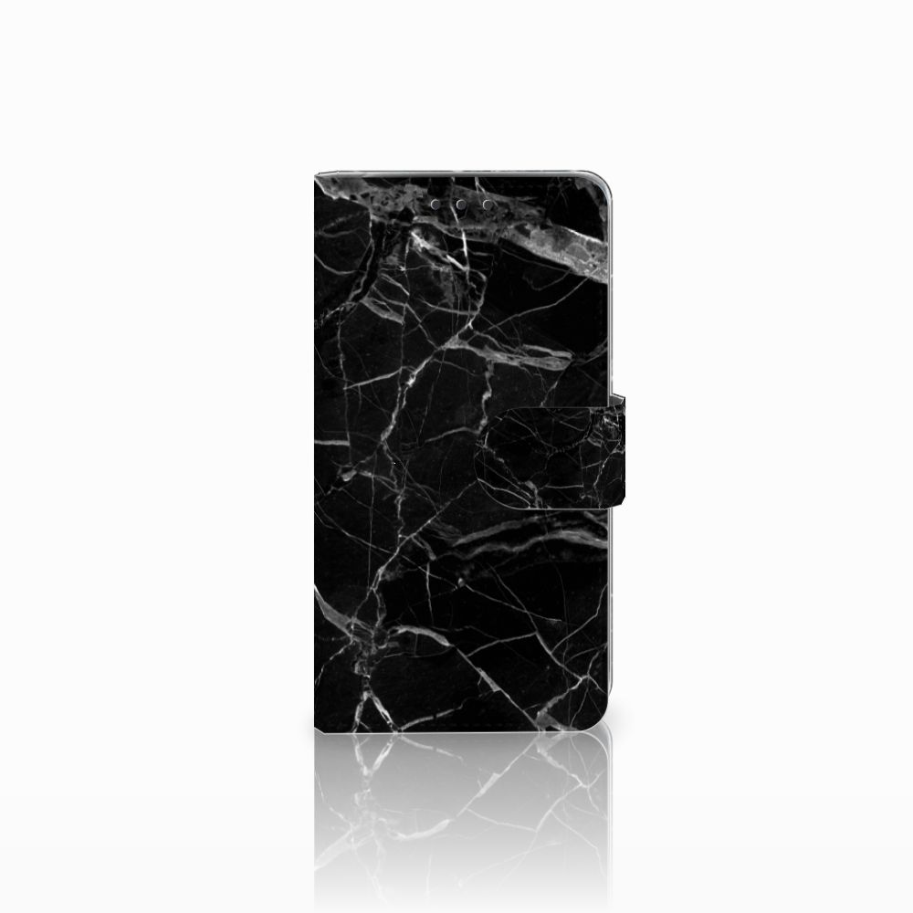 LG Q6 | LG Q6 Plus Uniek Boekhoesje Marmer Zwart