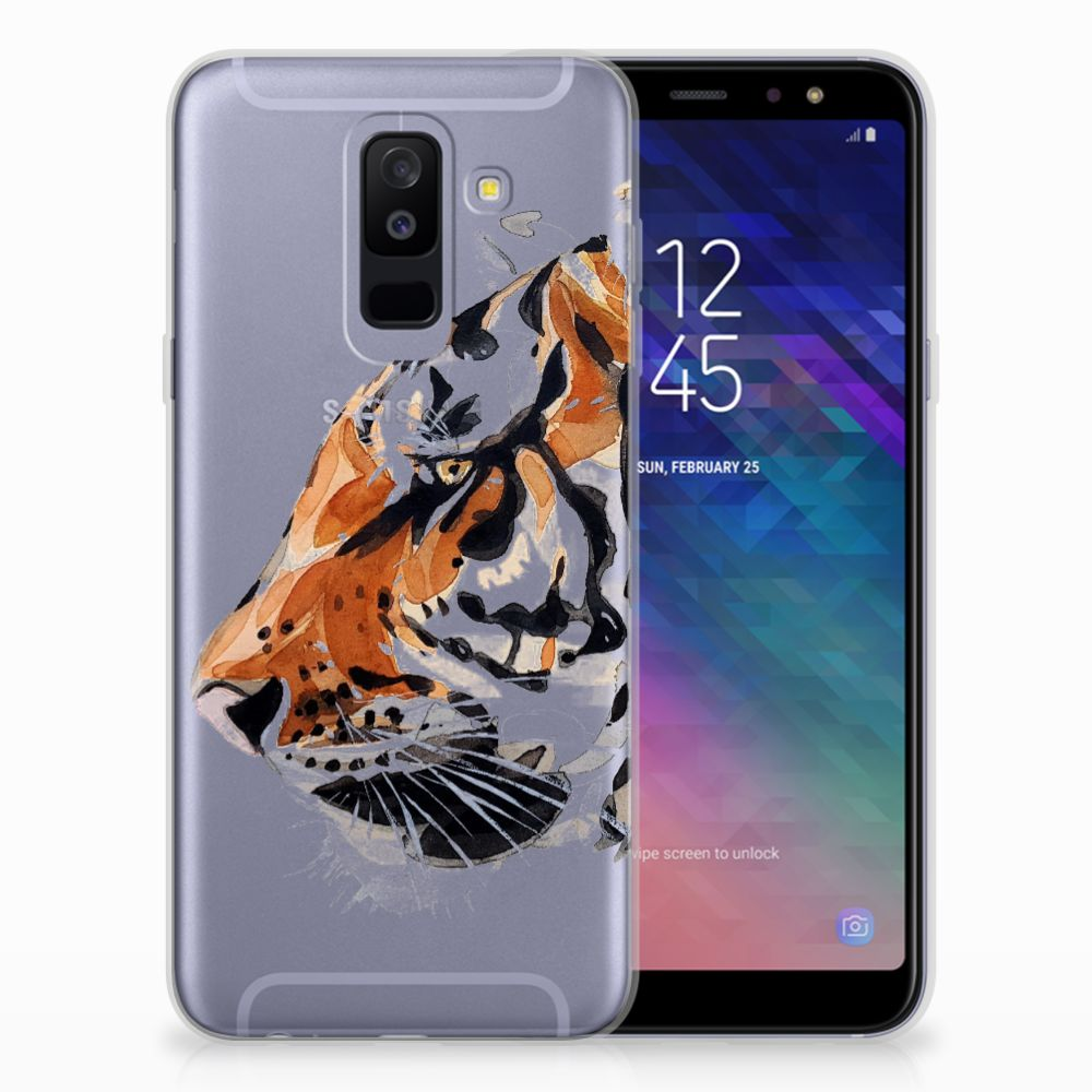Hoesje maken Samsung Galaxy A6 Plus (2018) Watercolor Tiger