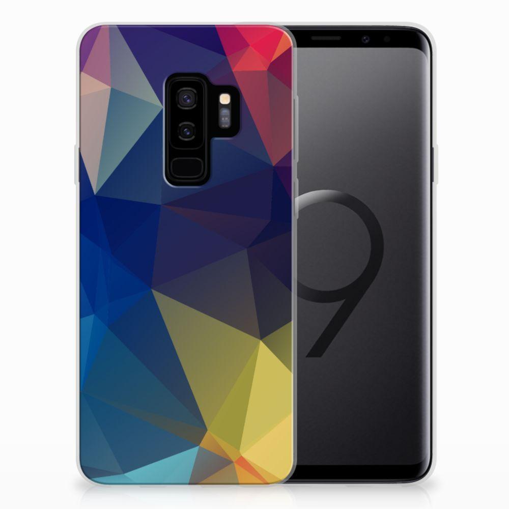 Samsung Galaxy S9 Plus TPU Hoesje Polygon Dark