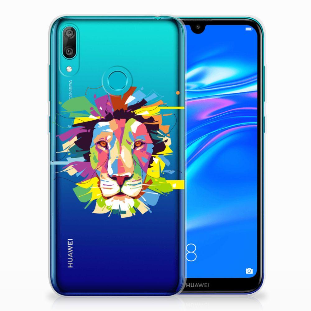 Huawei Y7 2019 Telefoonhoesje met Naam Lion Color
