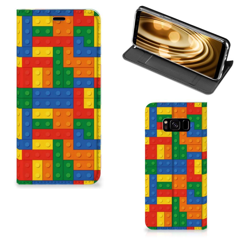 Samsung Galaxy S8 Standcase Hoesje Design Blokken