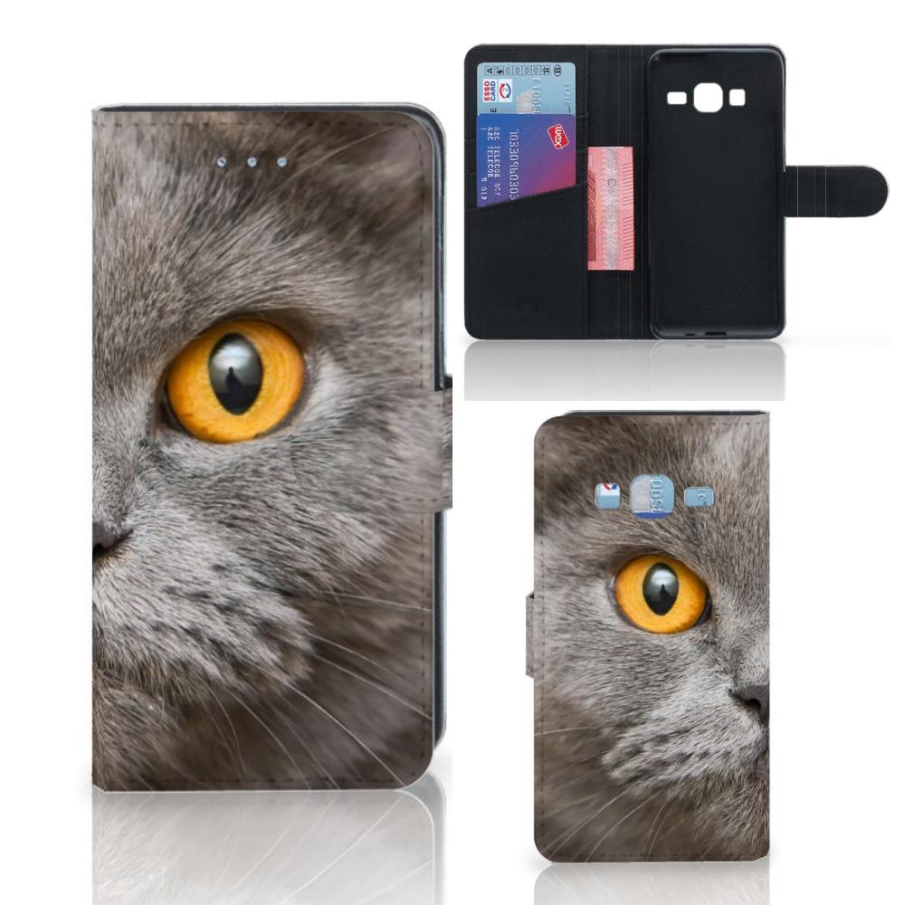 Telefoonhoesje met Pasjes Samsung Galaxy J3 2016 Britse Korthaar