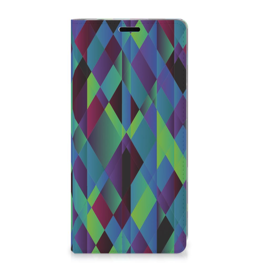 Samsung Galaxy A9 (2018) Stand Case Abstract Green Blue