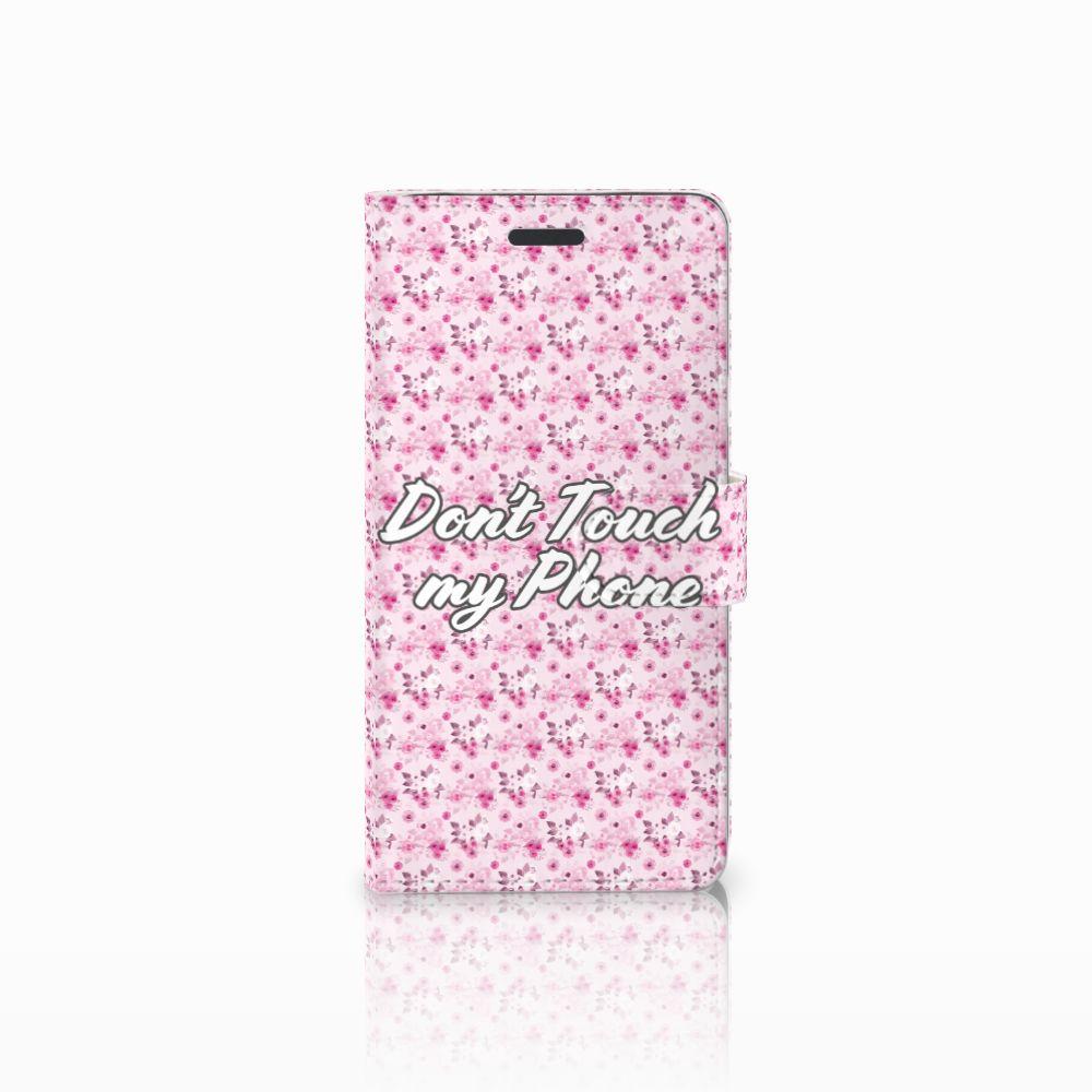Samsung Galaxy Note 5 Uniek Boekhoesje Flowers Pink DTMP