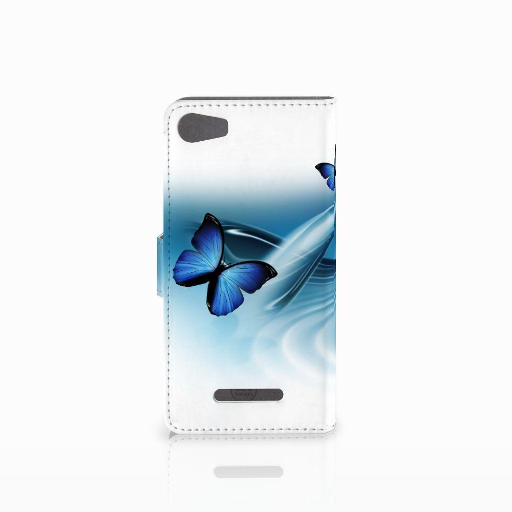 Wiko Lenny 2 Telefoonhoesje met Pasjes Vlinders