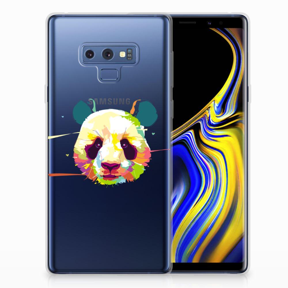 Samsung Galaxy Note 9 Telefoonhoesje met Naam Panda Color